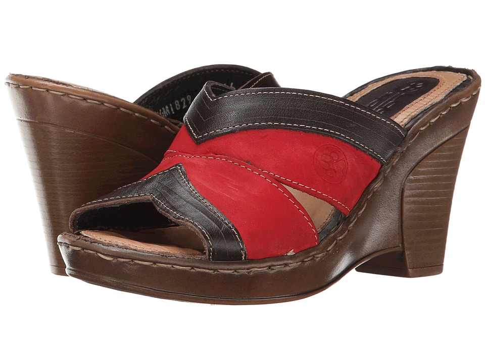 Lobo Solo - Rubi (Red/Cognac Leather) Women