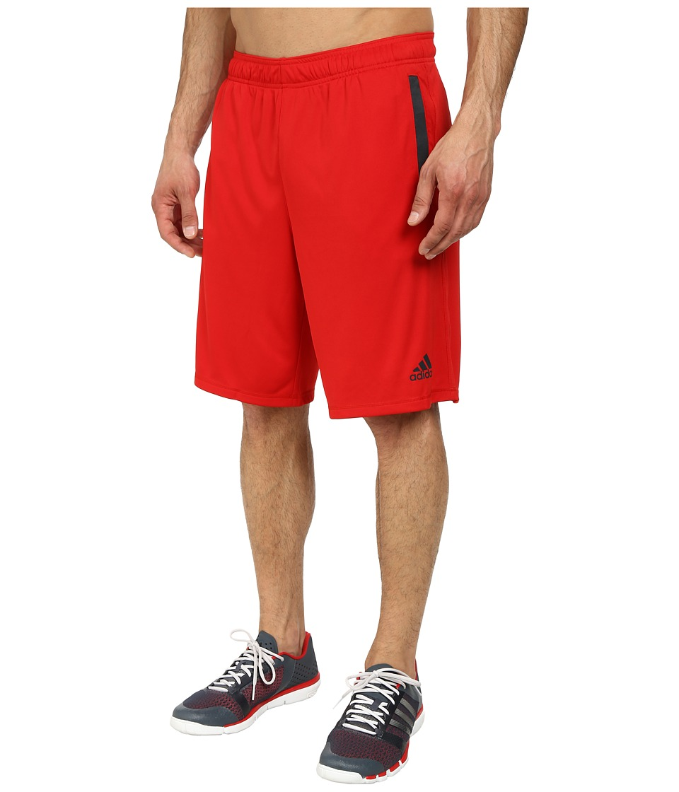 adidas - Ultimate Force 4 Shorts (Scarlet/Dark Grey) Men's Shorts