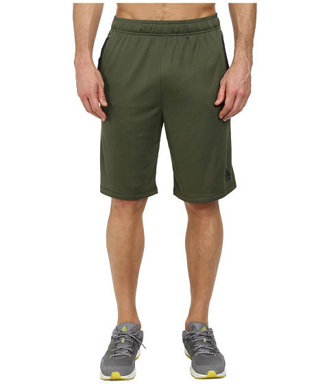 adidas - Ultimate Force 4 Shorts (Base Green/Grey) Men's Shorts