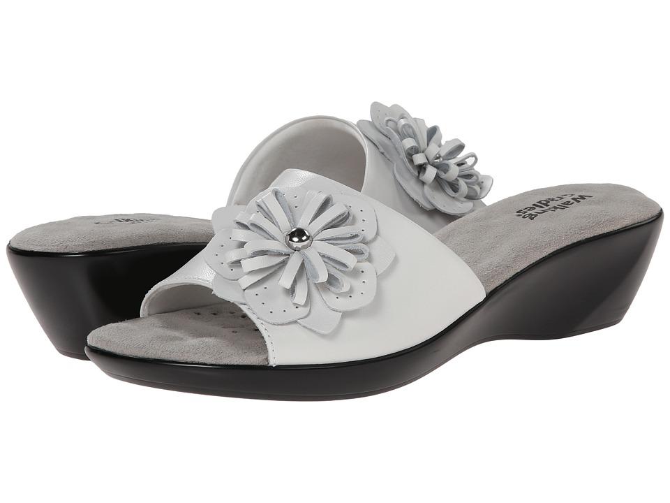 Walking Cradles - Cuddle (White Soft Kid) Women's Slide Shoes