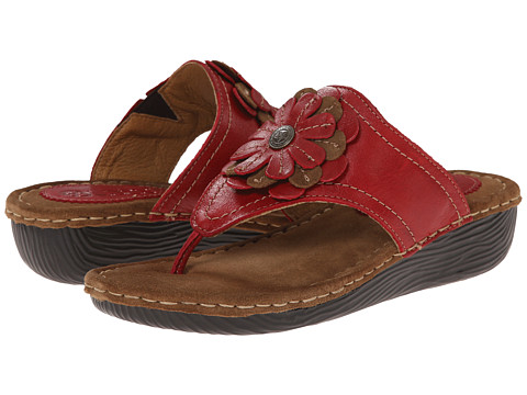 Lobo Solo - Venus (Red Leather) Women's Sandals