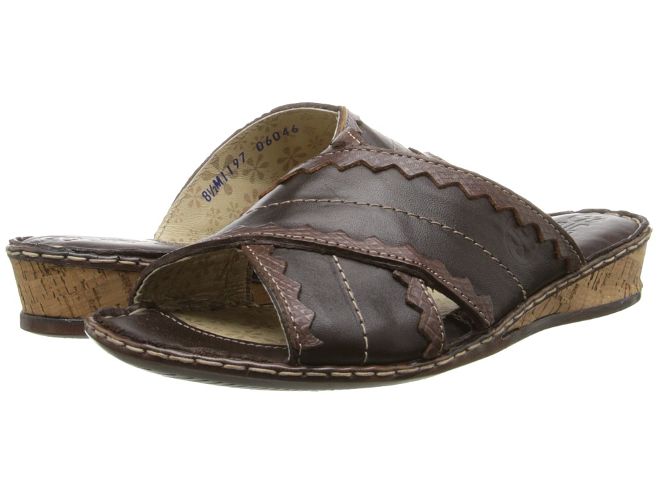 Lobo Solo - Indigo Slide (Brown Leather) Women