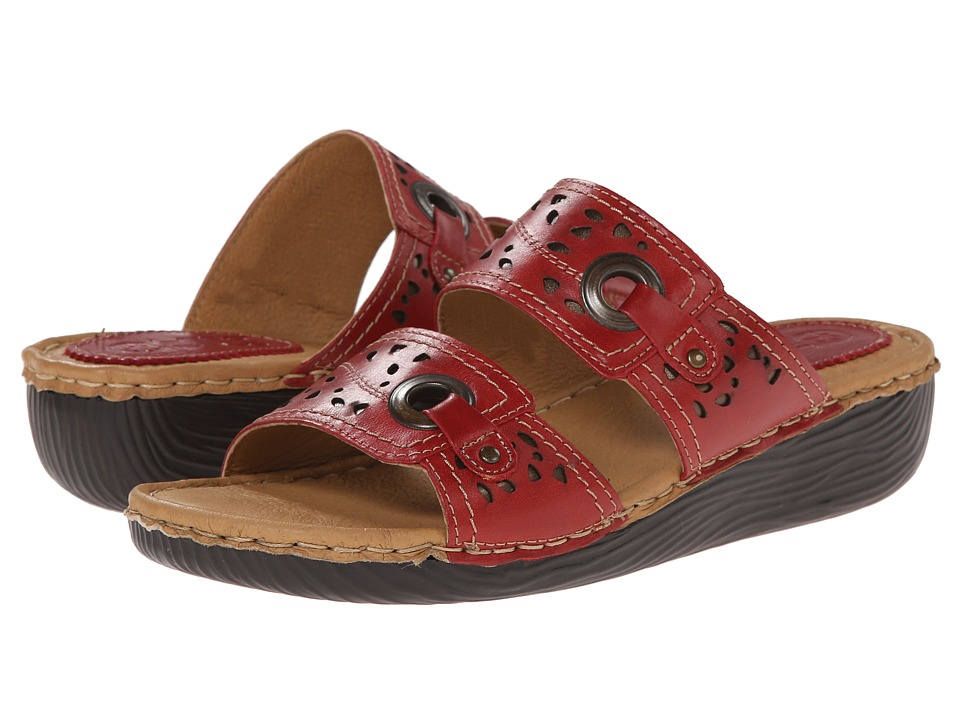 Lobo Solo - Esa (Red Leather) Women's Sandals