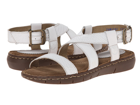 Lobo Solo - Petra (White Leather) Women's Sandals