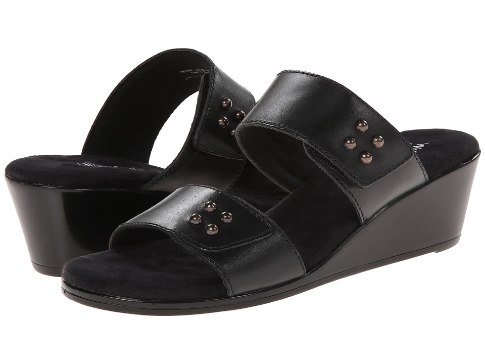 Walking Cradles - Nick (Black Soft Antanado) Women's Slide Shoes