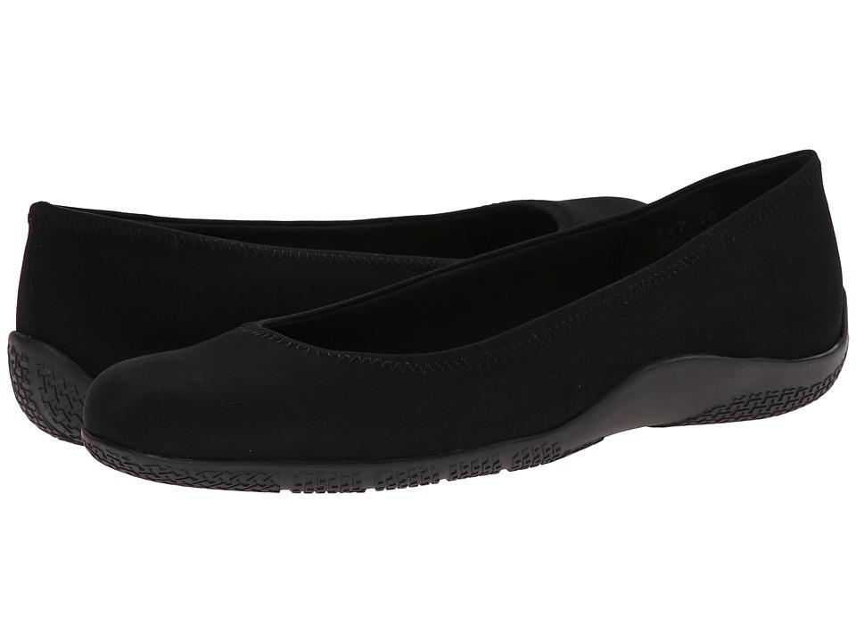 Walking Cradles - Dee (Black Micro) Women's Flat Shoes