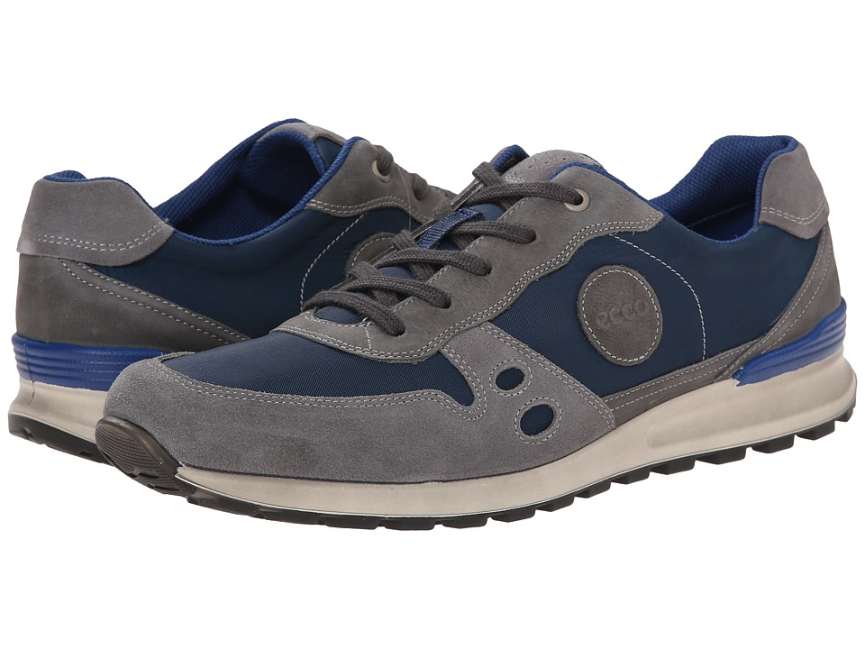 ECCO - CS14 Retro Sneaker (Titanium/True Navy/Moonless) Men