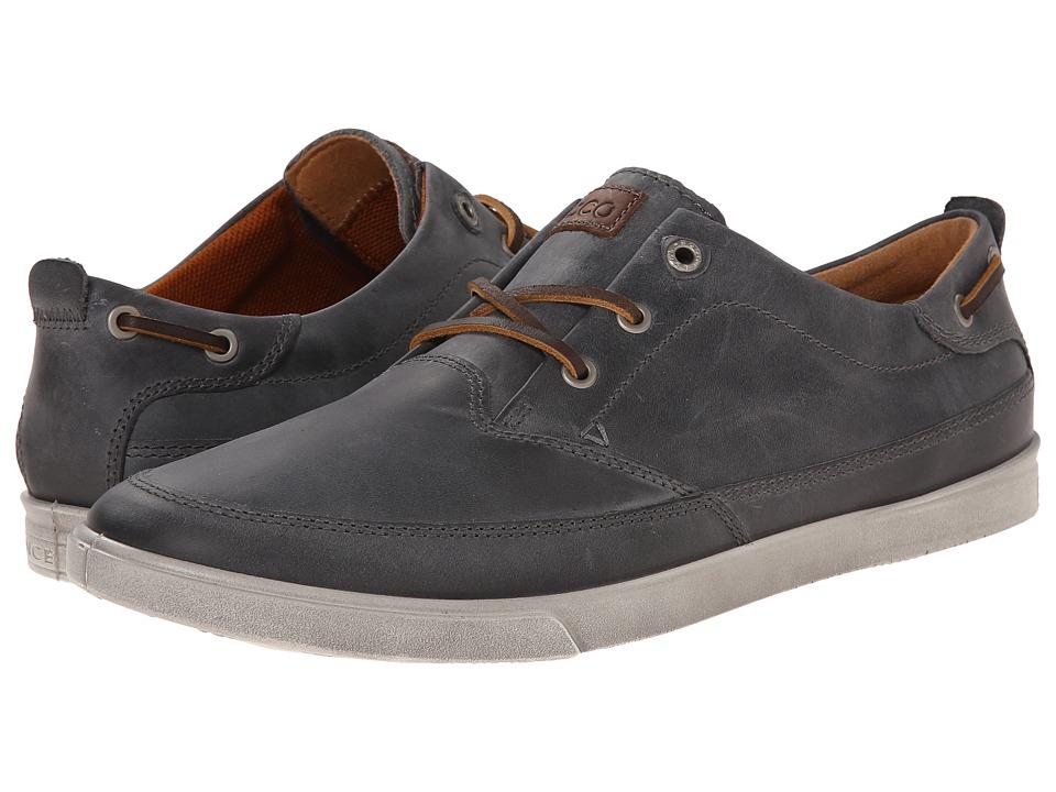 ECCO - Collin Nautical Sneaker (Titanium/Cocoa Brown) Men's Shoes