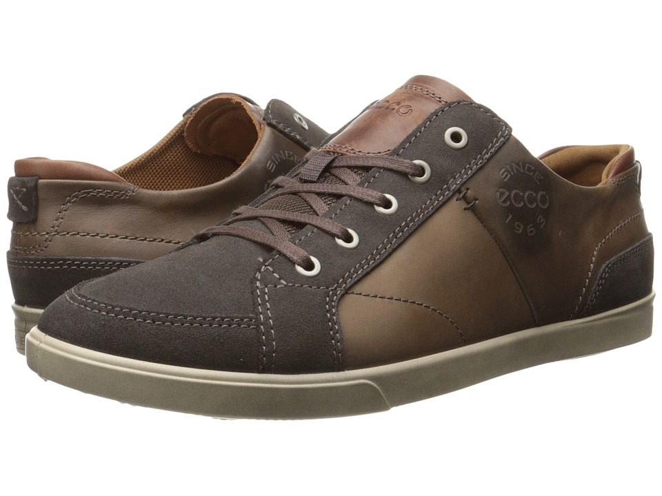 ECCO - Collin Vintage Sneaker (Licorice/Cocoa Brown/Cognac) Men's Shoes