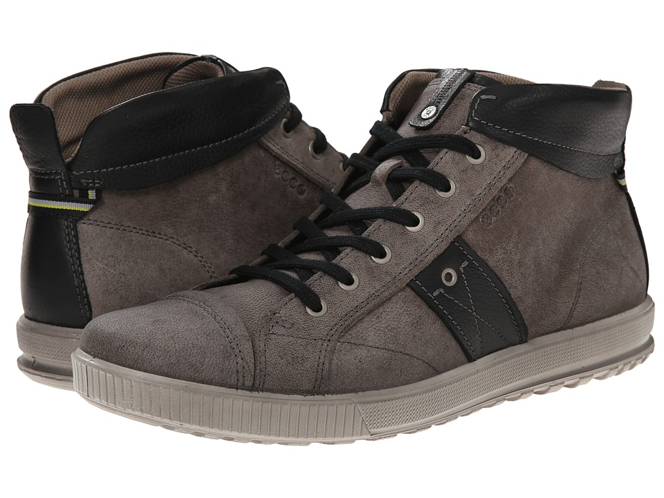 ECCO - Ennio Casual Boot (Warm Grey/Black) Men's Lace up casual Shoes