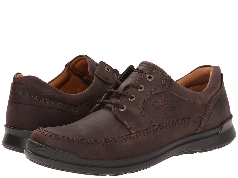 ECCO - Howell Moc Tie (Mocha) Men's Shoes