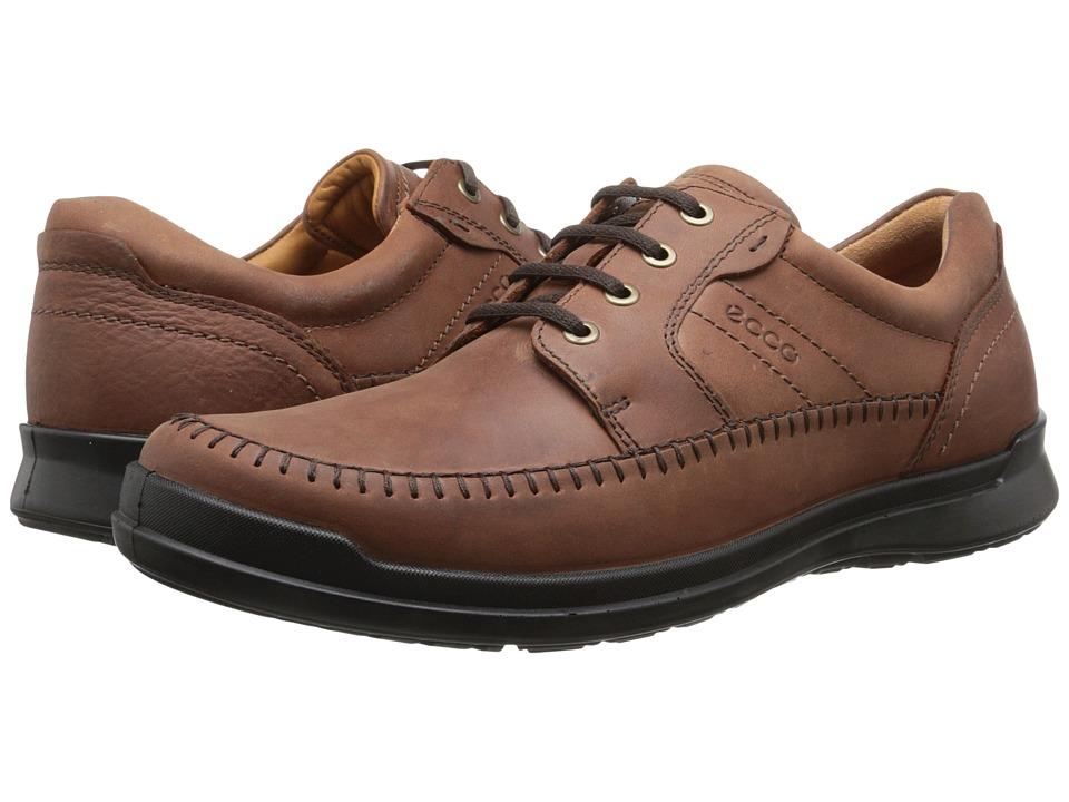 ECCO - Howell Moc Tie (Cognac) Men's Shoes