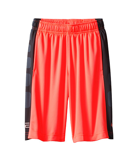 Nike Kids - Elite Stripe Short (Little Kids/Big Kids) (Hot Lava/Classic Charcoal/Metallic Red Bronze) Boy's Workout