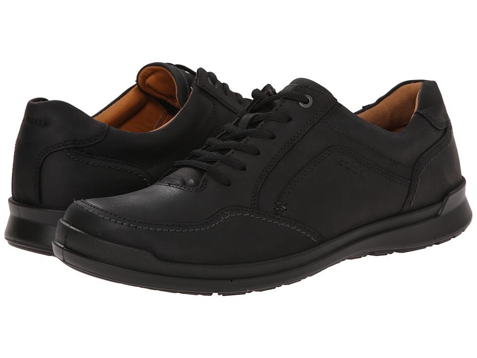 ECCO Howell Tie Black Mens  Shoes