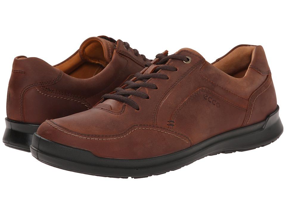 ECCO - Howell Tie (Cognac) Men's Shoes