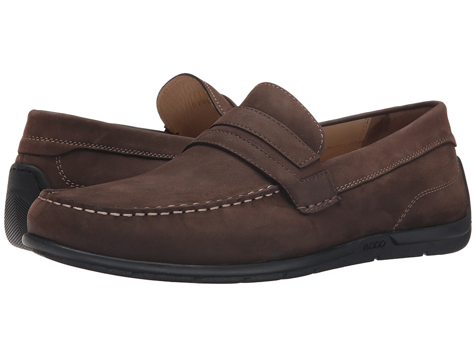 ECCO - Classic Moc 2.0 Penny (Coffee) Men's Shoes