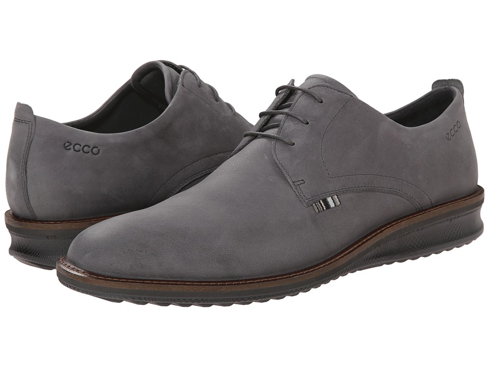 ECCO - Contoured Plain Toe Tie (Dark Shadow) Men