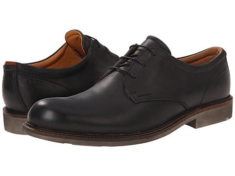 ECCO - Findlay Tie (Black) Men's Plain Toe Shoes