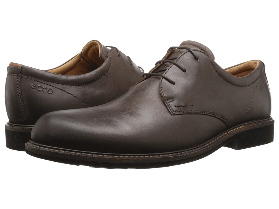 ECCO - Findlay Tie (Coffee) Men's Plain Toe Shoes