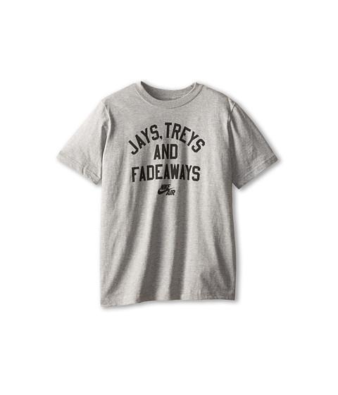 Nike Kids - NA Jays Fadeaways TD Tee (Little Kids/Big Kids) (Dark Grey Heather/Black Dark Grey Heather) Boy
