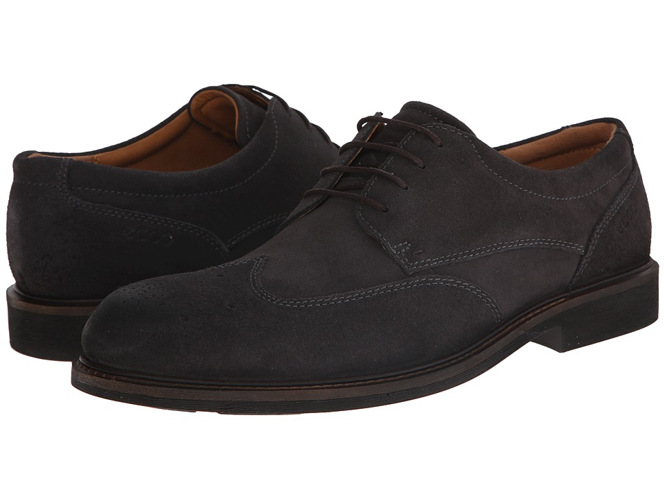 ECCO - Findlay Brogue Tie (Moonless) Men's Shoes