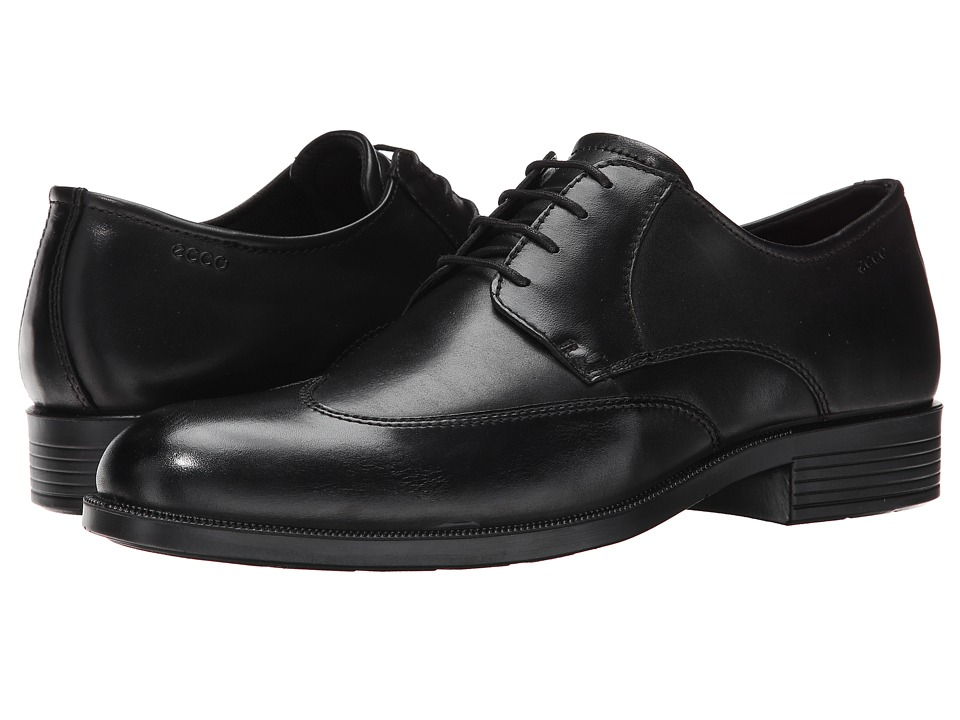 ECCO - Harold Wing Tip Tie (Black) Men's Lace Up Wing Tip Shoes