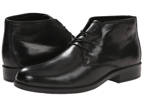 ECCO - Harold Plain Toe Boot (Black) Men's Dress Lace-up Boots