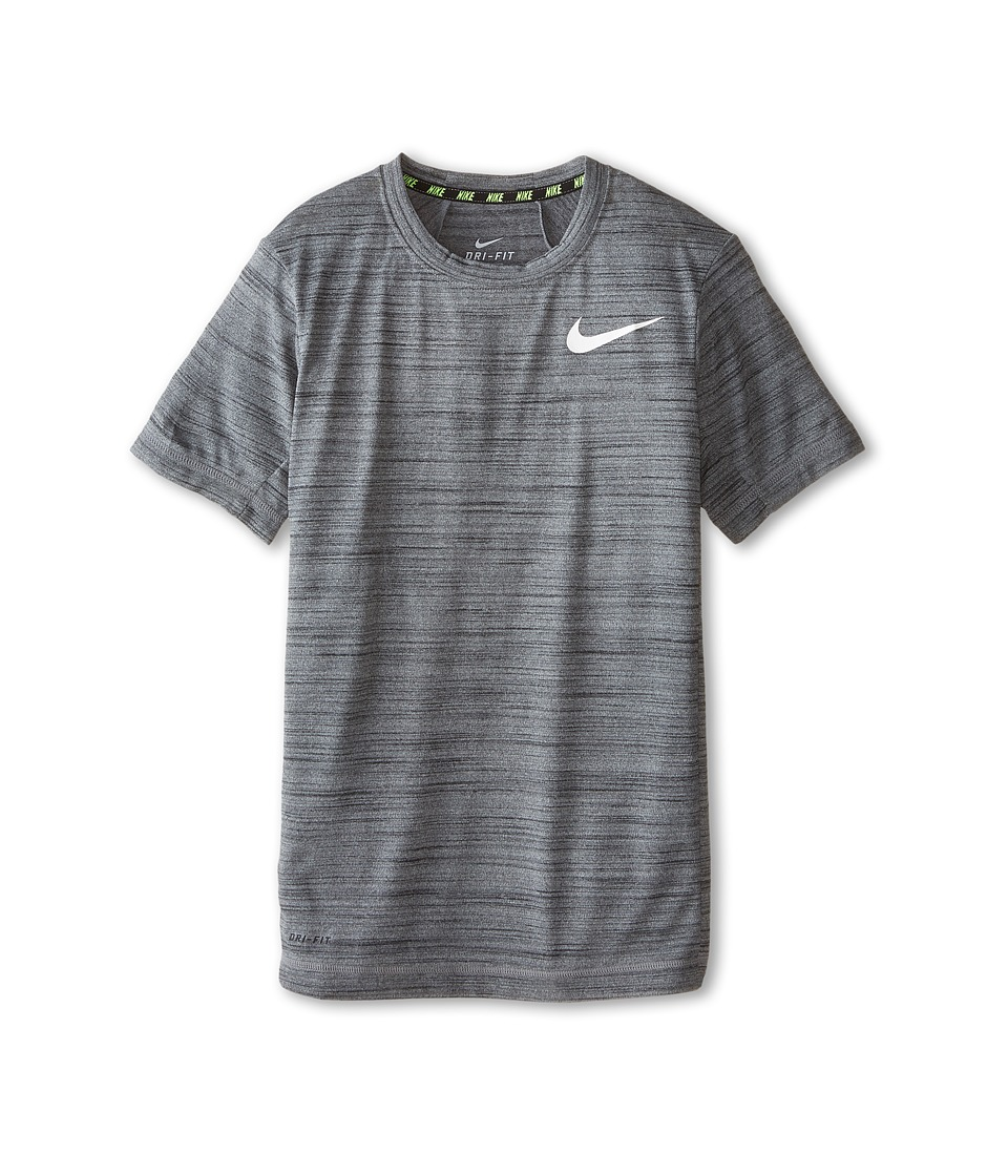 Nike Kids - DF Cool S/S Top (Little Kids/Big Kids) (Black/Cool Grey/White) Boy's Clothing