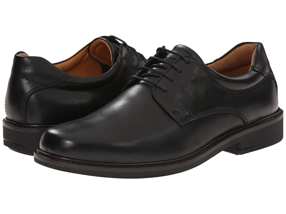 ECCO - Holton Plain Toe Tie (Black) Men's Shoes