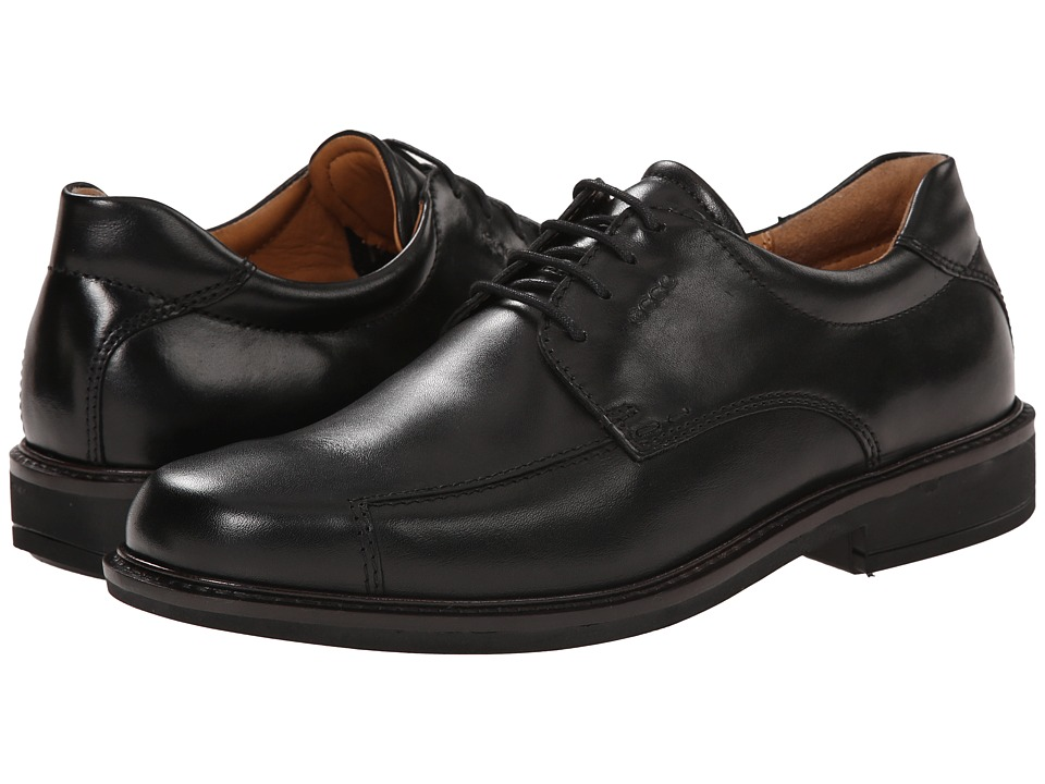 ECCO - Holton Bike Toe Tie (Black) Men's Shoes