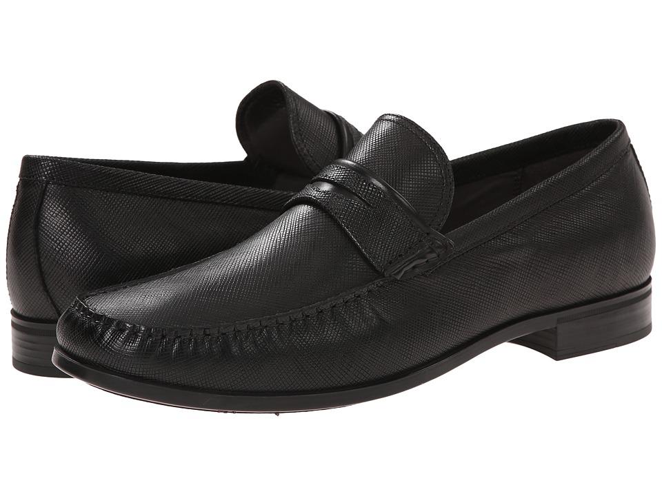 ECCO - Dress Moc Penny (Black/Black) Men