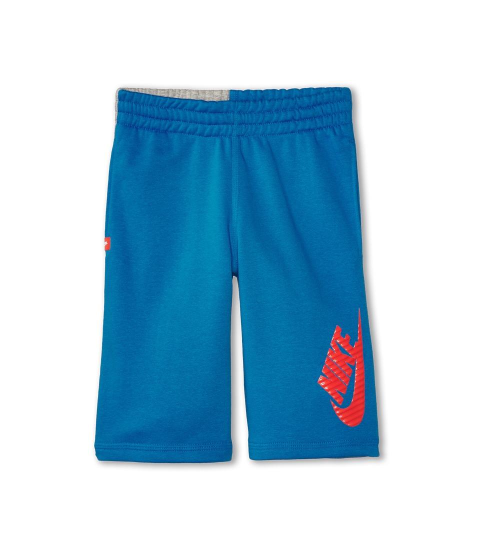 Nike Kids - N45 HBR FT Short (Little Kids/Big Kids) (Light Photo Blue/Dark Grey Heather/Daring Red) Boy's Shorts