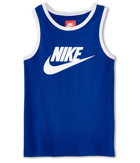 Nike Kids - Tank Futura (Little Kids/Big Kids) (Game Royal/White/White) Boy's Sleeveless