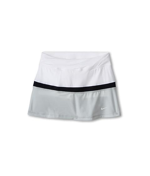 Nike Kids - Court Skirt (Little Kids/Big Kids) (Grey Mist/Black/White/White) Girl's Skirt