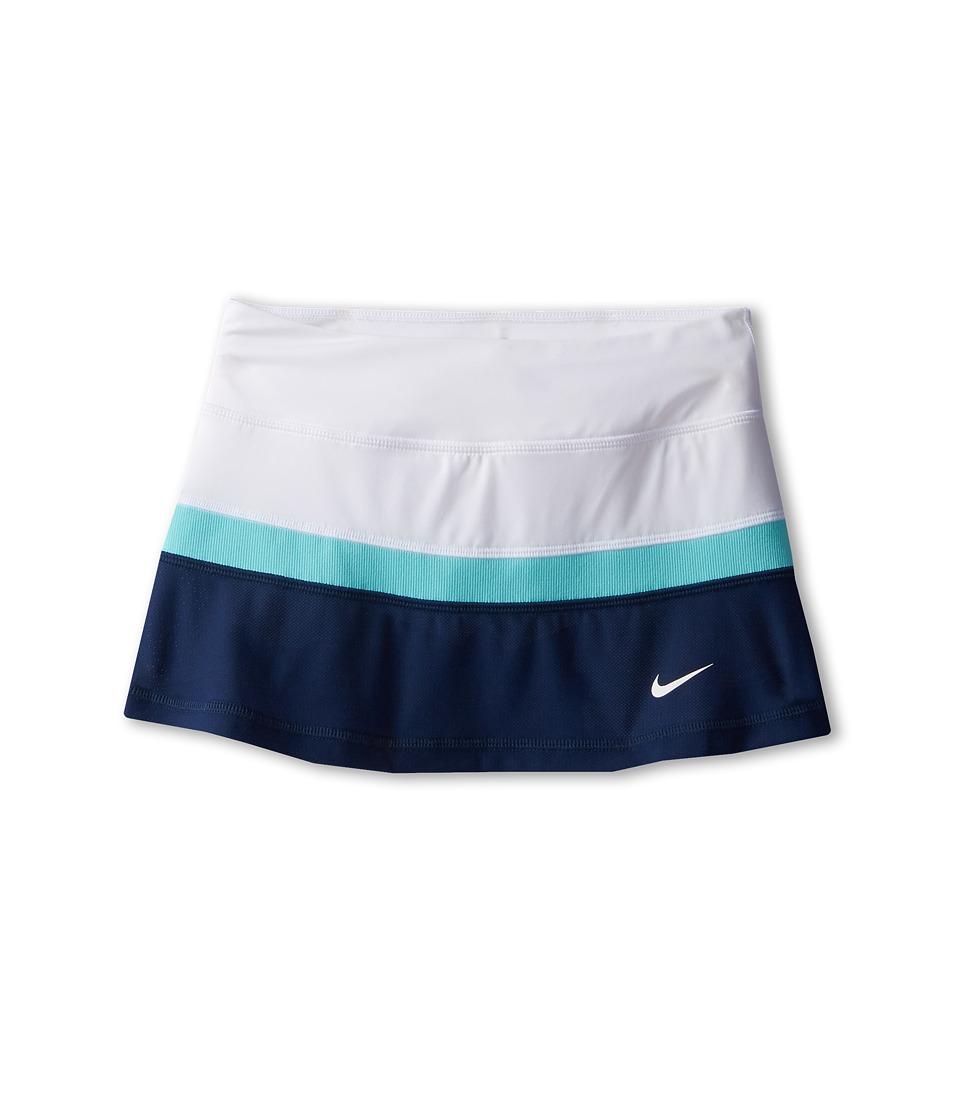 Nike Kids - Court Skirt (Little Kids/Big Kids) (Midnight Navy/Light Aqua/White/White) Girl's Skirt