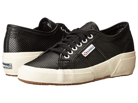Superga - 2905 Perfleaw (Black) Women's Lace up casual Shoes