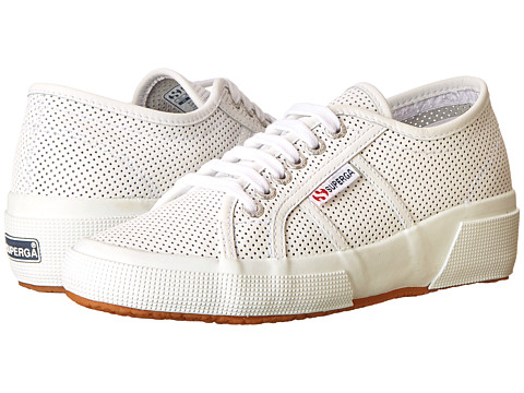 Superga - 2905 Perfleaw (White) Women's Lace up casual Shoes