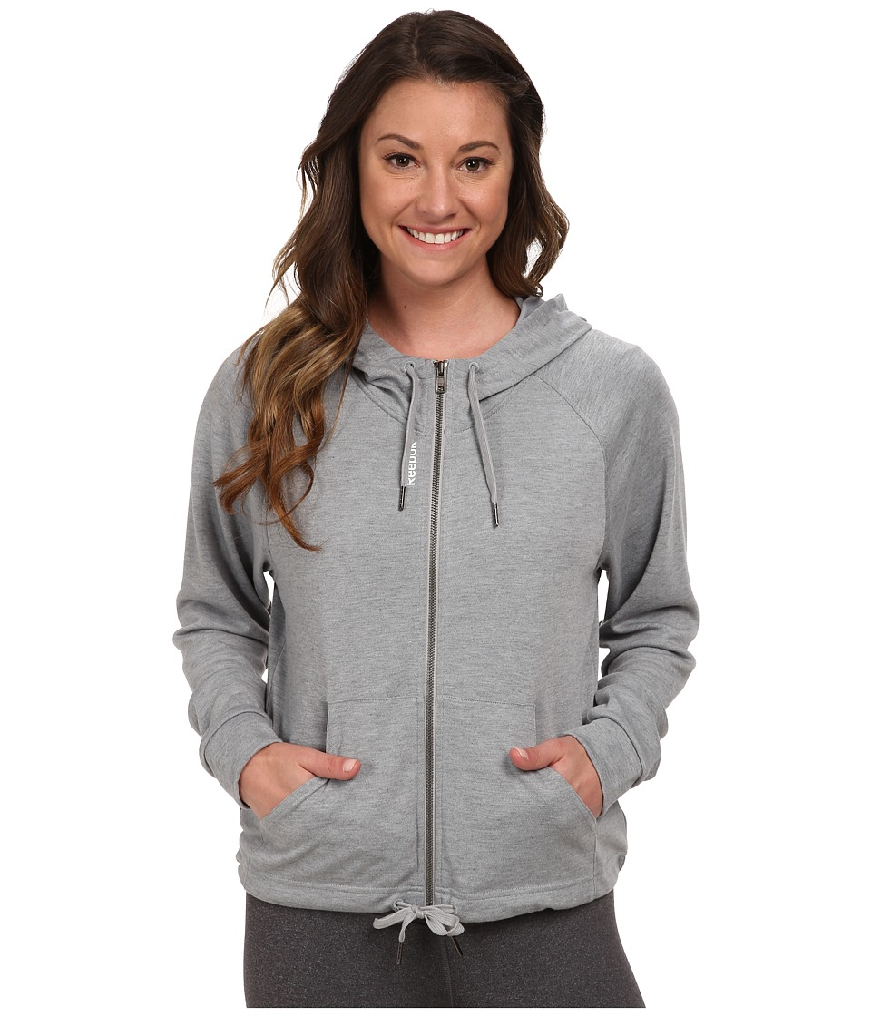 Reebok - PlayDry Hoodie (Medium Heather Grey) Women