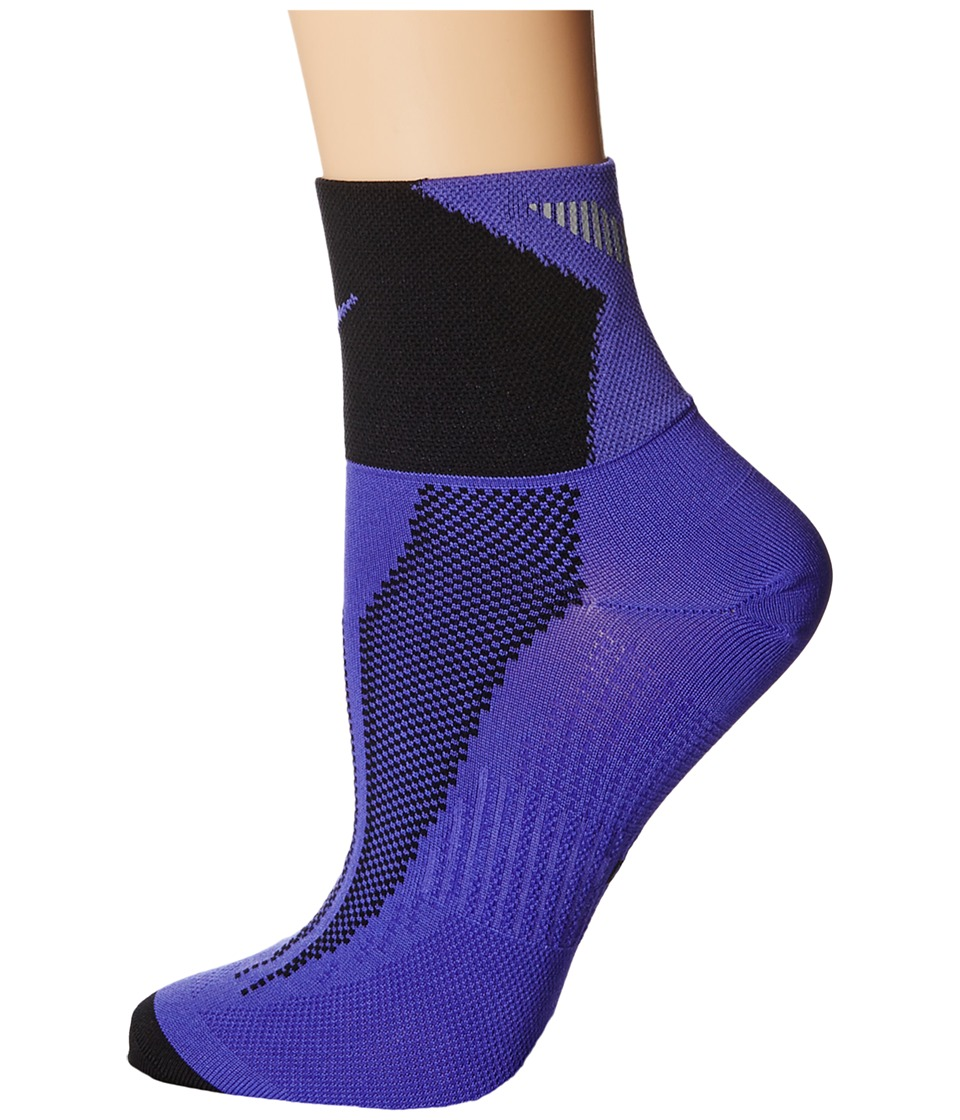 Nike - Elite Run Lightweight Quarter (Persian Violet/Black/Persian Violet) Quarter Length Socks Shoes