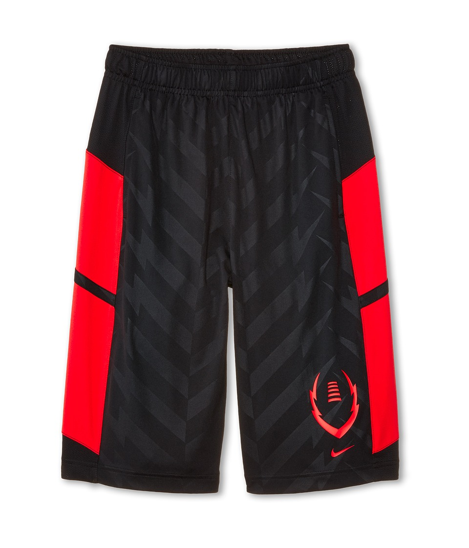 Nike Kids - Football Training Short (Little Kids/Big Kids) (Black/Daring Red/Daring Red) Boy