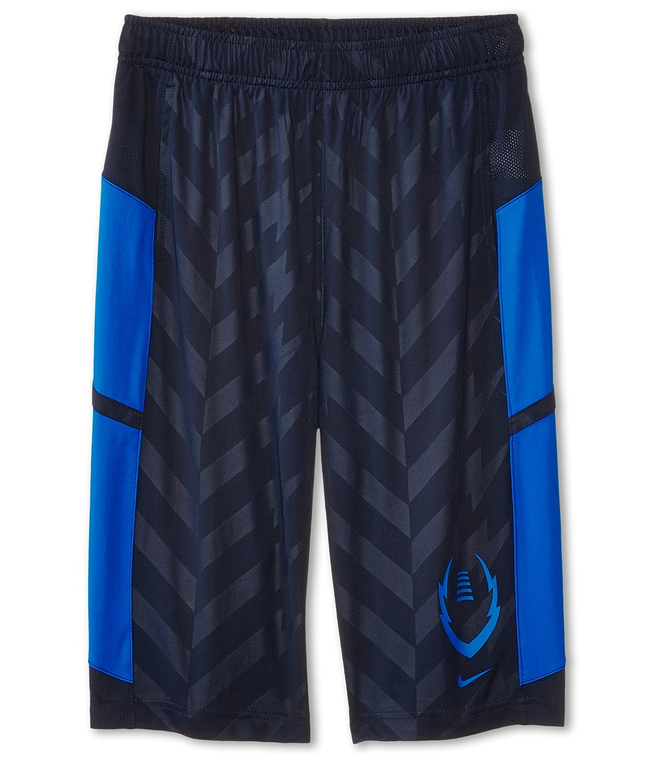 Nike Kids - Football Training Short (Little Kids/Big Kids) (Obsidian/Photo Blue/Photo Blue) Boy