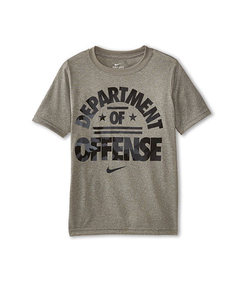 Nike Kids - Leg Department Of Def Tee (Little Kids/Big Kids) (Dark Grey Heather/Dark Grey Heather) Boy
