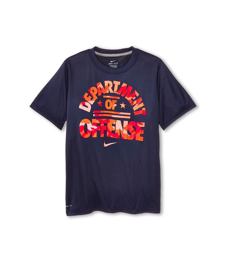 Nike Kids - Leg Department Of Def Tee (Little Kids/Big Kids) (Obsidian/Dark Grey Heather) Boy's T Shirt