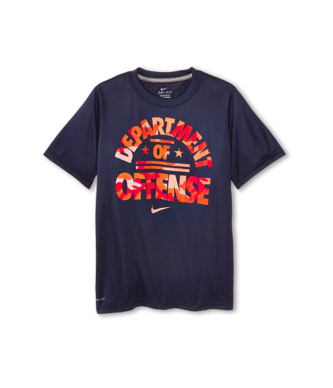Nike Kids - Leg Department Of Def Tee (Little Kids/Big Kids) (Obsidian/Dark Grey Heather) Boy