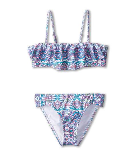 O'Neill Kids - Mavin Ruffle Bandeau Bikini (Big Kids) (Cream) Girl's Swimwear Sets