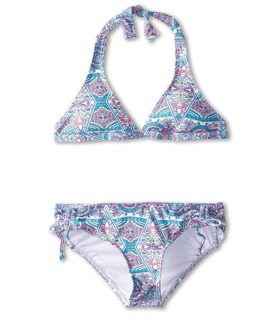 O'Neill Kids - Marvin Halter Bikini (Big Kids) (Cream) Girl's Swimwear Sets
