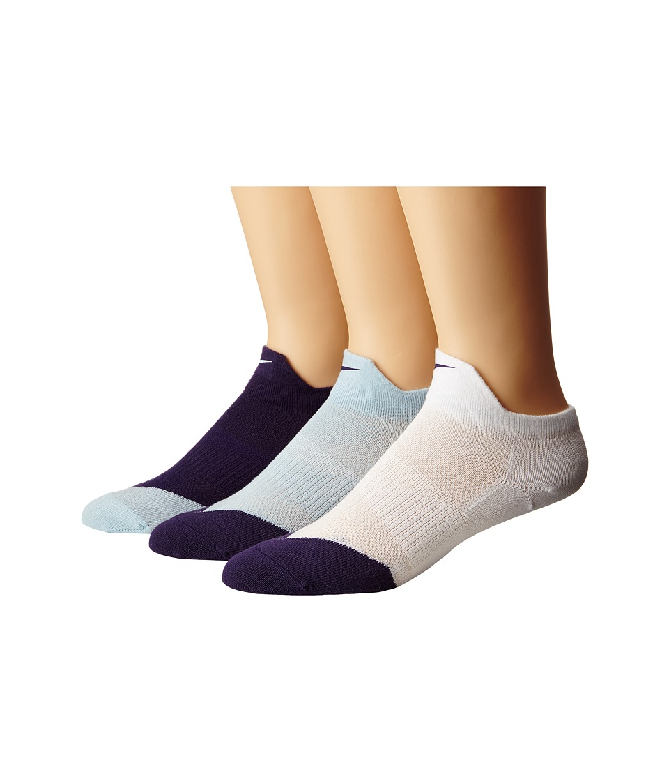 Nike - Dri-FIT Lightweight Low Quarter 3-Pack (White/Ink/Ink/Ice/Ice/Ink) Quarter Length Socks Shoes