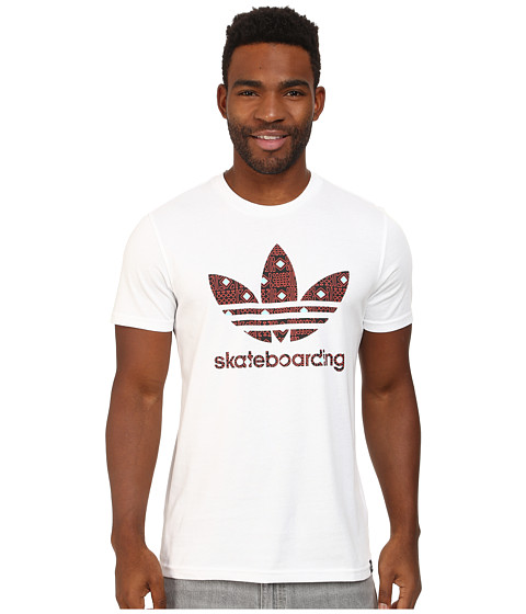 adidas Skateboarding - ADV 2.0 Logo Fill Tee (White) Men