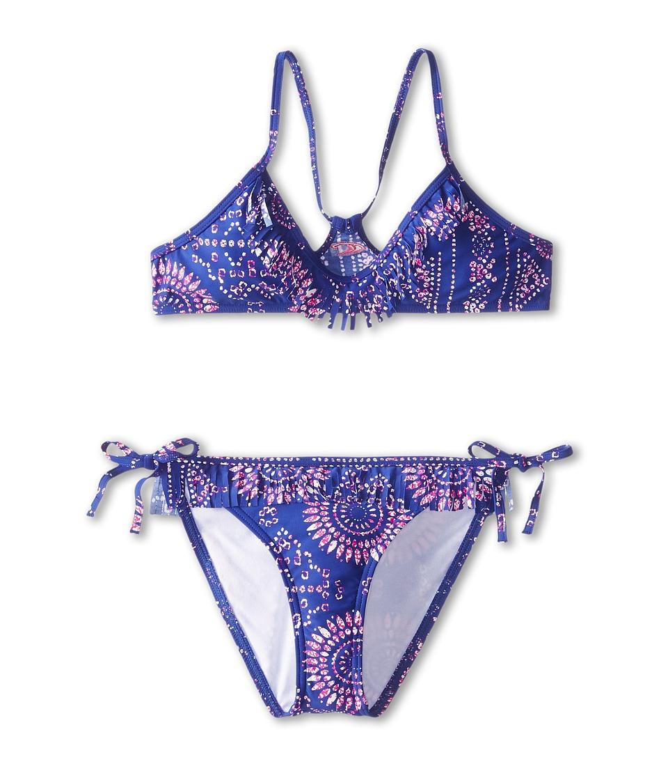 O'Neill Kids - Moxie Fringe Top Bikini (Big Kids) (Cobalt) Girl's Swimwear Sets