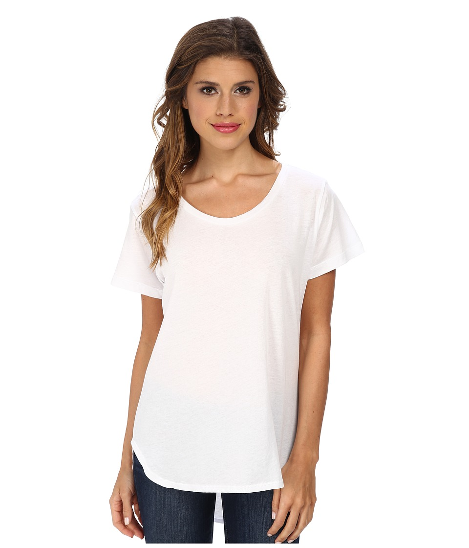 LNA - Crescent Crew (White) Women's Clothing